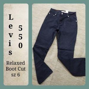 Levi's 550 Relaxed Boot Cut🕳Women sz 6